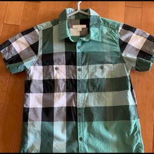 Burberry Short Sleeve Shirt, 10Y